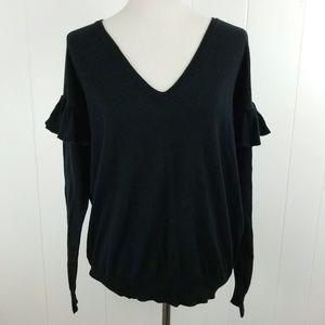 FOLK by Hansel from Basel Black Ruffle Sweater